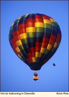 Hot air ballooning in the Finger Lakes, New York USA. Photo by Jon Reis.