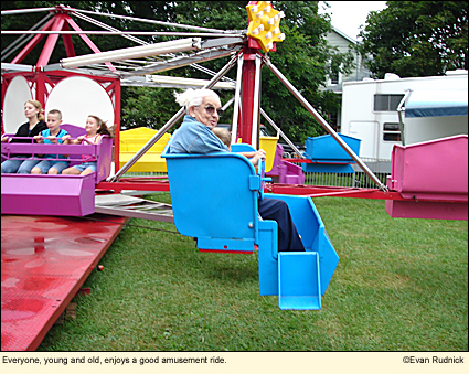 Everyone, young and old, enjoys a good amusement ride.
