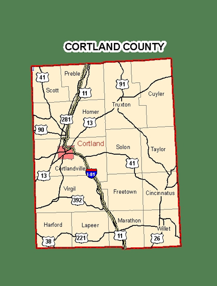 Finger Lakes, New York | Cortland County | Mapcortland county