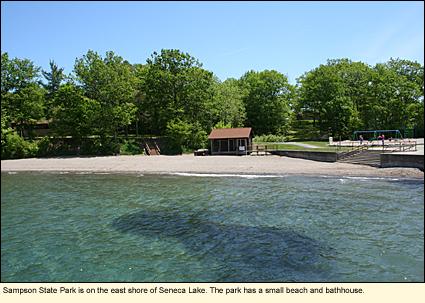 Finger lakes new york state parks seneca county for Sampson state park ny cabins