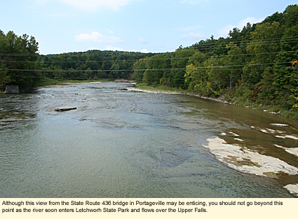 Finger lakes new york rivers genesee fillmore to - Letchworth state park swimming pool ...